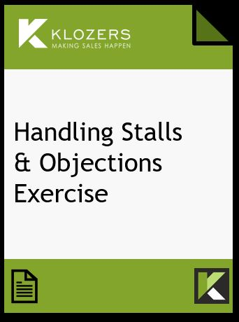 Handling Sales Stalls & Objections Exercise