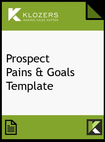 Prospect Sales Pains & Goals Template
