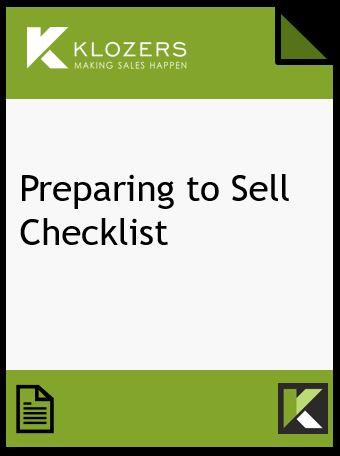 Preparing to Sell