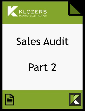 Sales Audit Part 2