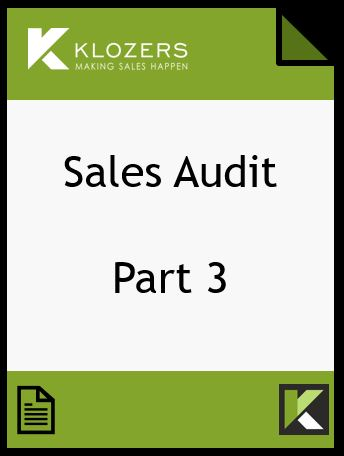 Sales Audit Part 3