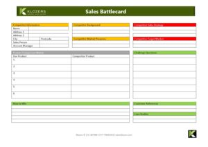Sales Tools - Sales Battlecard
