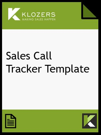 Sales Call Tracker Template