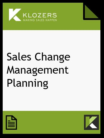 Sales Change Management Planning