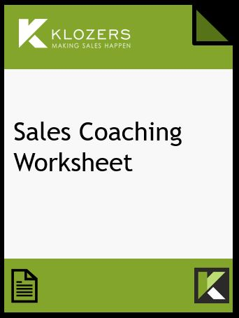 Sales Coaching Worksheet