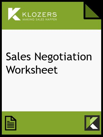 Sales Negotiation Worksheet