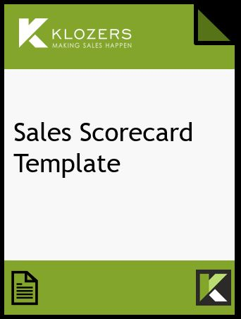 Sales Scorecard Template