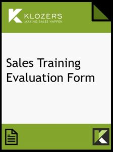Sales Training Evaluation Form