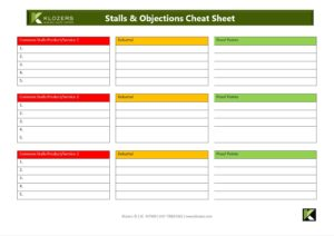 Sales Tools - Stalls & Objections