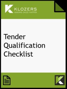 Sales Tender Qualification Checklist