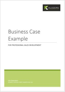 B2B Sales tools - Business Case Template