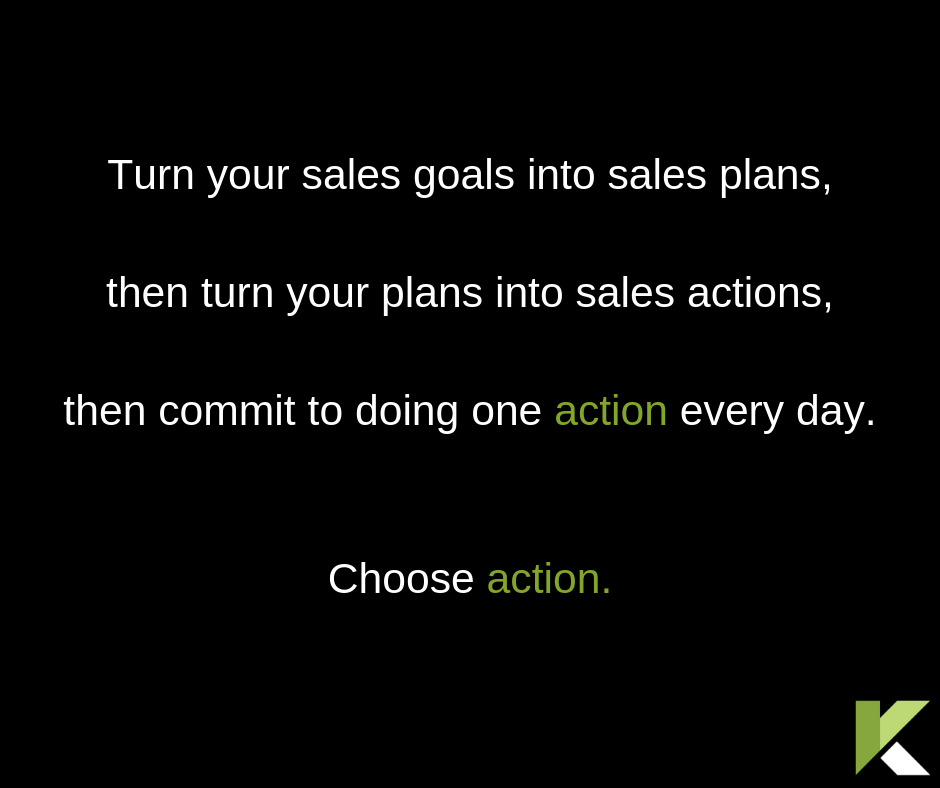 Sales Coaching Choose Action