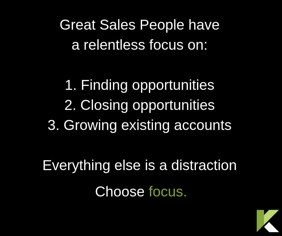 Sales Coaching Choose Focus