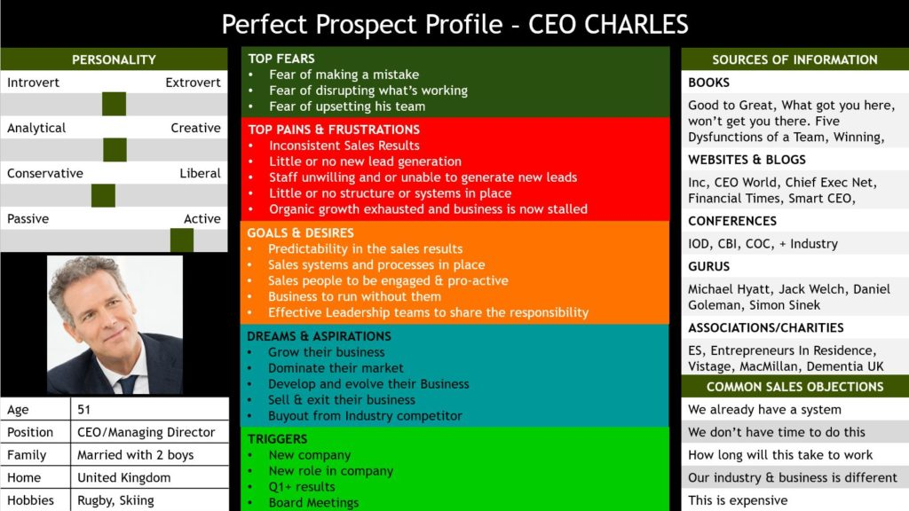 Sales Prospect Profile Example