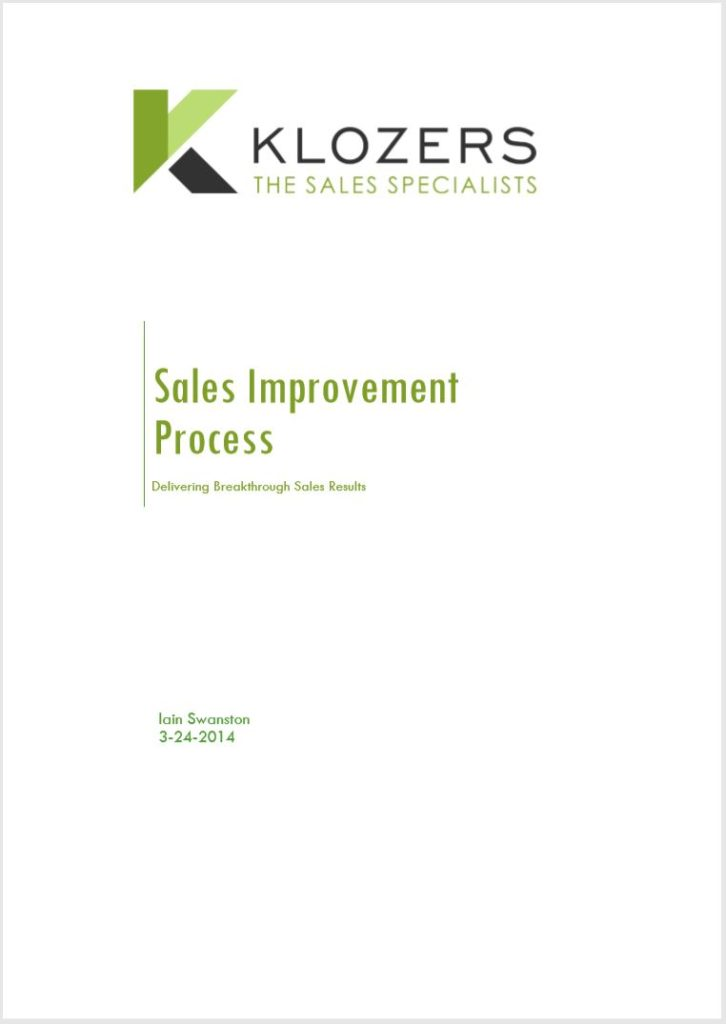 B2B Sales tools - Sales Improvement Process