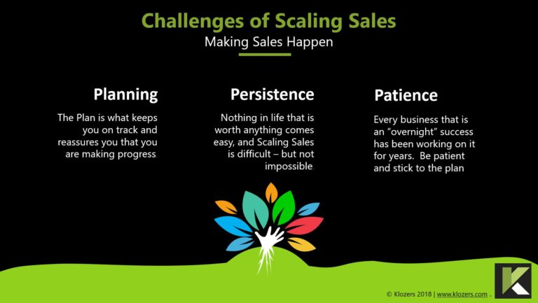Challenges of Scaling Sales