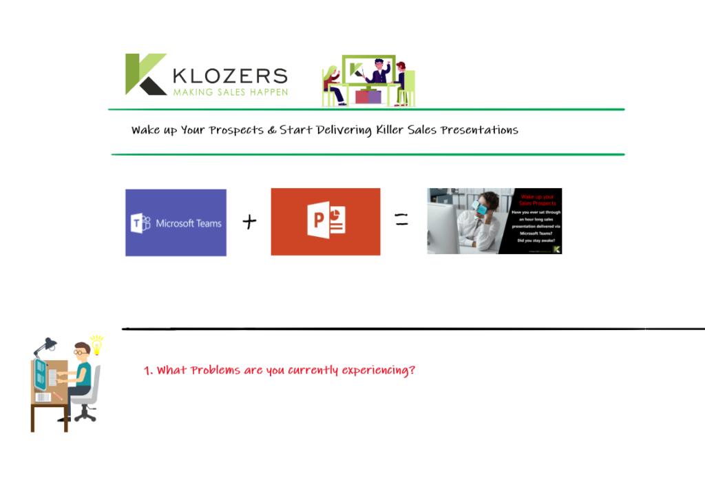 Online sales presentation training