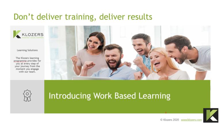 Group sales training
