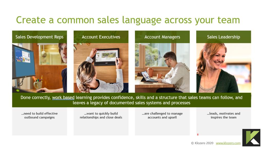 Common sales language